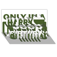 Only In A Jeep Logo Happy Birthday 3d Greeting Card (8x4)
