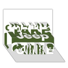 Only In A Jeep Logo Take Care 3d Greeting Card (7x5)