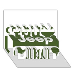 Only In A Jeep Logo You Did It 3d Greeting Card (7x5)