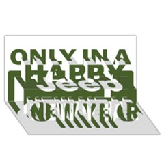 Only In A Jeep Logo Happy New Year 3d Greeting Card (8x4)