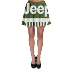 Only In A Jeep Logo Skater Skirt