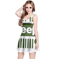 Only In A Jeep Logo Reversible Sleeveless Dress