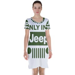 Only In A Jeep Logo Short Sleeve Nightdress