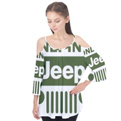 Only In A Jeep Logo Flutter Tees