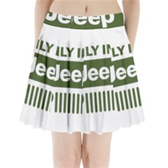 Only In A Jeep Logo Pleated Mini Skirt