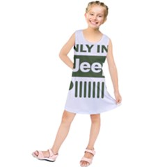 Only In A Jeep Logo Kids  Tunic Dress