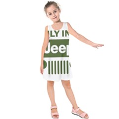 Only In A Jeep Logo Kids  Sleeveless Dress