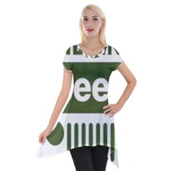 Only In A Jeep Logo Short Sleeve Side Drop Tunic