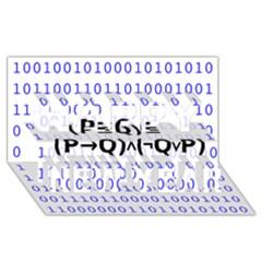 Logic Eqn Happy New Year 3d Greeting Card (8x4)