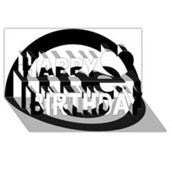 Me Logo Happy Birthday 3D Greeting Card (8x4)