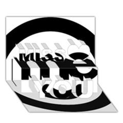 Me Logo Miss You 3d Greeting Card (7x5)