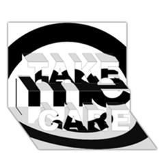 Me Logo Take Care 3d Greeting Card (7x5)