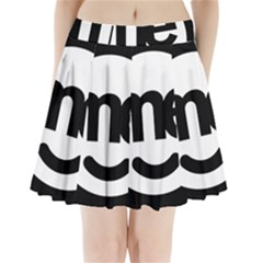 Me Logo Pleated Mini Skirt