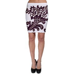 Purple Wood Ornaments Bodycon Skirt