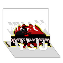 Positively Nerdy Miss You 3d Greeting Card (7x5)