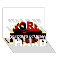Positively Nerdy Work Hard 3d Greeting Card (7x5)