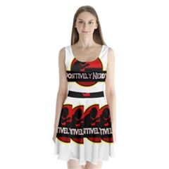 Positively Nerdy Split Back Mini Dress