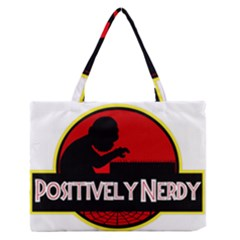 Positively Nerdy Medium Zipper Tote Bag