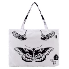 Harry Styles Tattoos Medium Zipper Tote Bag