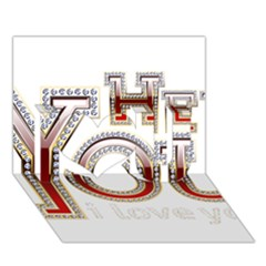 Hey You I Love You I Love You 3D Greeting Card (7x5)