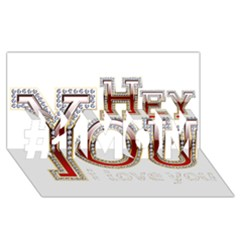 Hey You I Love You #1 Mom 3d Greeting Cards (8x4)