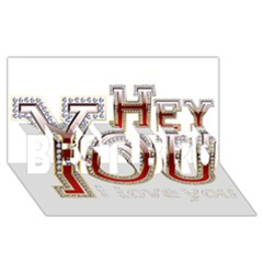 Hey You I Love You BEST BRO 3D Greeting Card (8x4)