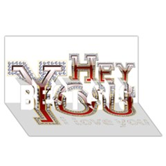 Hey You I Love You BEST SIS 3D Greeting Card (8x4)