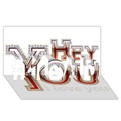 Hey You I Love You #1 Dad 3d Greeting Card (8x4)