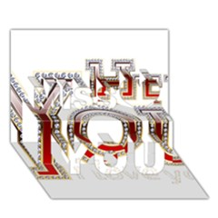 Hey You I Love You Miss You 3d Greeting Card (7x5)