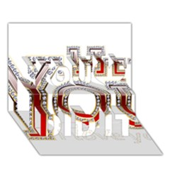 Hey You I Love You You Did It 3d Greeting Card (7x5)