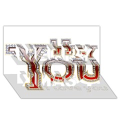 Hey You I Love You Merry Xmas 3d Greeting Card (8x4)
