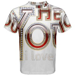 Hey You I Love You Men s Cotton Tee