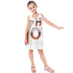Hey You I Love You Kids  Sleeveless Dress