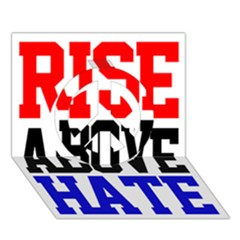 John Cena Rise Above Hate 2 Peace Sign 3d Greeting Card (7x5)