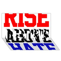 John Cena Rise Above Hate 2 Best Sis 3d Greeting Card (8x4)