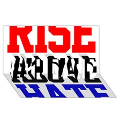 John Cena Rise Above Hate 2 #1 Dad 3d Greeting Card (8x4)