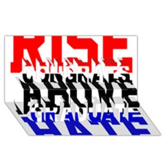 John Cena Rise Above Hate 2 Congrats Graduate 3D Greeting Card (8x4)