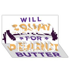 Will Squat For Peanut Butter Best Friends 3d Greeting Card (8x4)