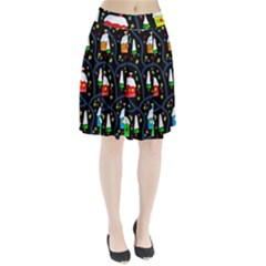 Winter Magical Night Pleated Skirt