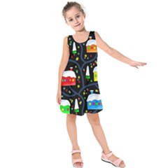 Winter magical night Kids  Sleeveless Dress