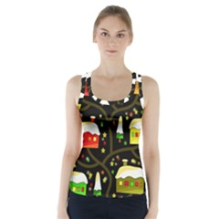 Winter  night  Racer Back Sports Top