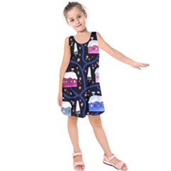 Magical Xmas Night Kids  Sleeveless Dress