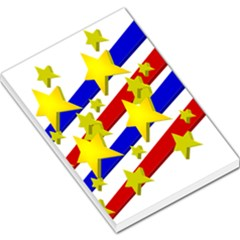 Flag Ransparent Cartoon American Large Memo Pads