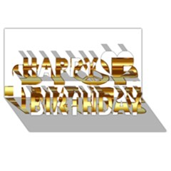 Stop Wars Happy Birthday 3D Greeting Card (8x4)