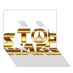 Stop Wars Heart 3d Greeting Card (7x5)