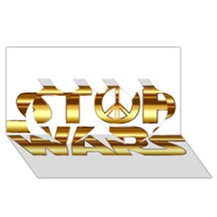 Stop Wars Twin Hearts 3D Greeting Card (8x4)