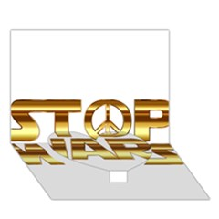 Stop Wars Heart Bottom 3D Greeting Card (7x5)