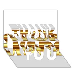 Stop Wars Thank You 3d Greeting Card (7x5)