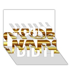 Stop Wars You Did It 3D Greeting Card (7x5)