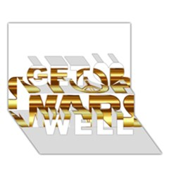Stop Wars Get Well 3d Greeting Card (7x5)
